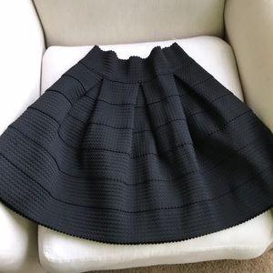 Pleated Xhilaration black skirt